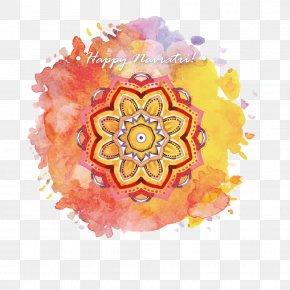 Watercolor India Festival Label - Hotel Karpagam International Navaratri Happiness Festival Thai Pongal PNG