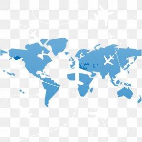 Global Fly - India United States World Map Globe PNG