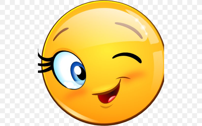 Smiley Wink Emoticon Flirting Clip Art, PNG, 512x512px