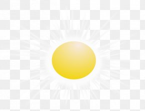 The Sun's Rays Shine - Yellow Circle Wallpaper PNG