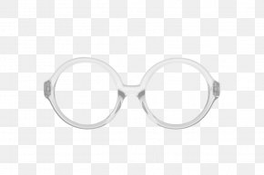 White Round Watermark - Goggles Sunglasses Lens PNG