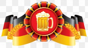 Oktoberfest Decor German Flag And Beer Clipart Image - Oktoberfest Wheat Beer German Cuisine Märzen PNG