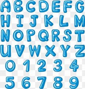 Sky Blue English Alphabet - English Alphabet Letter Font PNG