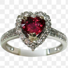 Engagement Ring - Engagement Ring Jewellery Ruby Diamond PNG