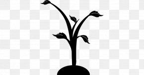 M Clip Art Plant Stem Leaf - Twig Black & White PNG