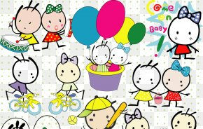 Cute Cartoon - Mickey Mouse Minnie Mouse Pluto Winnie The Pooh Hello Kitty PNG