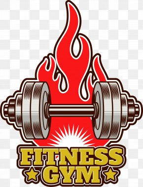 Retro Barbell Tags - Physical Fitness Bodybuilding Fitness Centre Icon PNG
