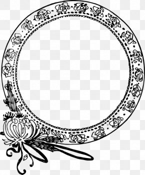 Public Domain Line Art - Picture Frame Ornament Clip Art PNG