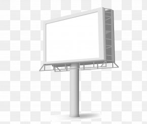 Outdoor Square Lamp Box - Billboard Advertising PNG