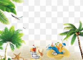 Summer Beach Resort Background - Beach Resort Wallpaper PNG