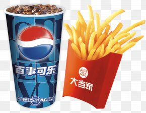 Pepsi Fries - French Fries Hamburger Pepsi Junk Food Cola PNG