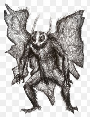 Moth Man Pic - Point Pleasant Mothman Flatwoods Monster Drawing PNG