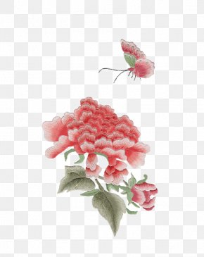 Embroidery Peony - Designer PNG