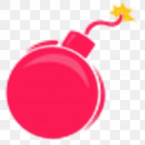 Bomb - Magenta Pink Red PNG