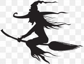 Halloween Witch Silhouette Clip Art - Witchcraft Halloween Silhouette Clip Art PNG