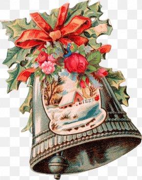 Christmas Decoration Ancient Bell - Santa Claus Christmas Decoration Vintage Clothing Easter PNG