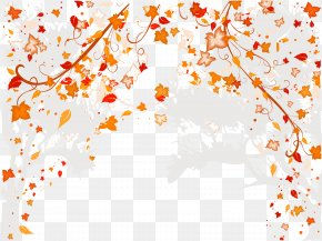 Autumn Leaves Background - Wedding Invitation Picture Frame Ornament PNG