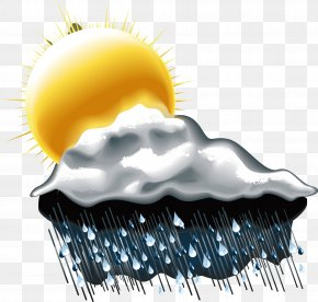 Rain Weather Vector - Rain And Snow Mixed Weather Cloud PNG