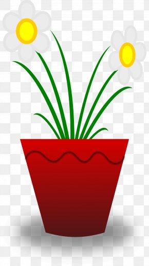 Flower Pot Clipart - Flowerpot Free Content Clip Art PNG