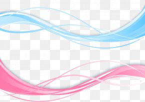 Wavy Line Material - Line Blue Euclidean Vector Free PNG