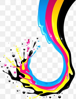 Paint Splash - CMYK Color Model Stock Photography Illustration PNG