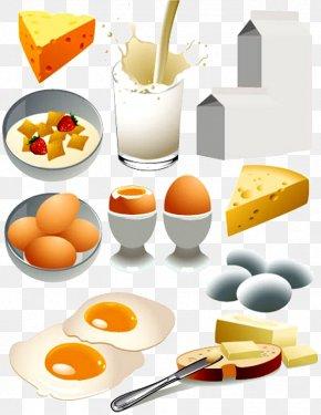Breakfast - Milk Breakfast Omelette Dairy Product Clip Art PNG