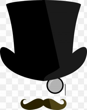 Monocle Cliparts - Top Hat Monocle Moustache Clip Art PNG