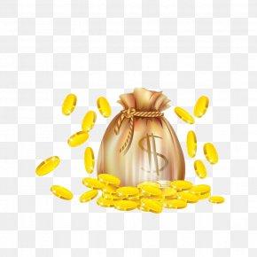 Gold - Gold Coin Money Cartoon PNG