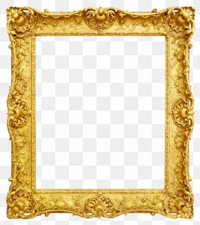 Gold Photo Frame - Picture Frame Antique Gold PNG