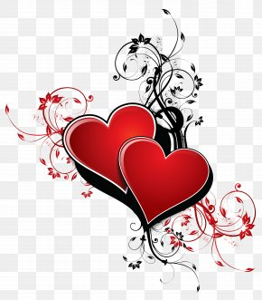 Hearts With Decor PNG Clipart Picture - Valentine's Day Poster Gift Paper Holiday PNG