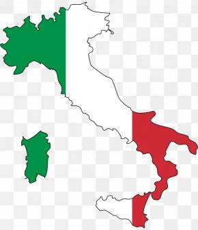 Italy Flag - Flag Of Italy Map Flag Of The United States PNG