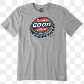 T-shirt - T-shirt Clothing Life Is Good Company Sleeve PNG