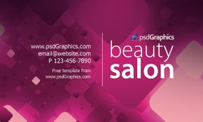 Business Card - Beauty Parlour Business Card Visiting Card Template PNG