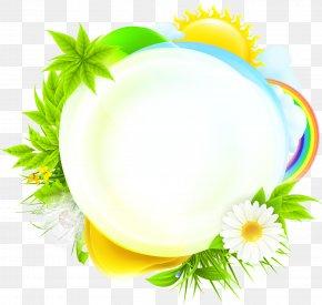 Green Plant Sun - Stock Illustration Euclidean Vector Illustration PNG