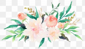 Colored Watercolor Flowers - Wedding Invitation Watercolor Painting Flower Floral Design Clip Art PNG