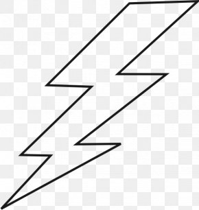 Lightning Bolt Outline - Black Lightning Black Bolt Black And White Clip Art PNG