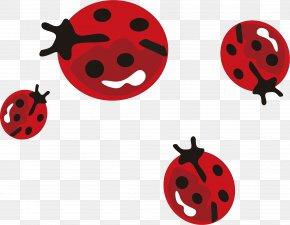 Seven Star Ladybug Vector Element - Beetle Coccinella Septempunctata Euclidean Vector PNG