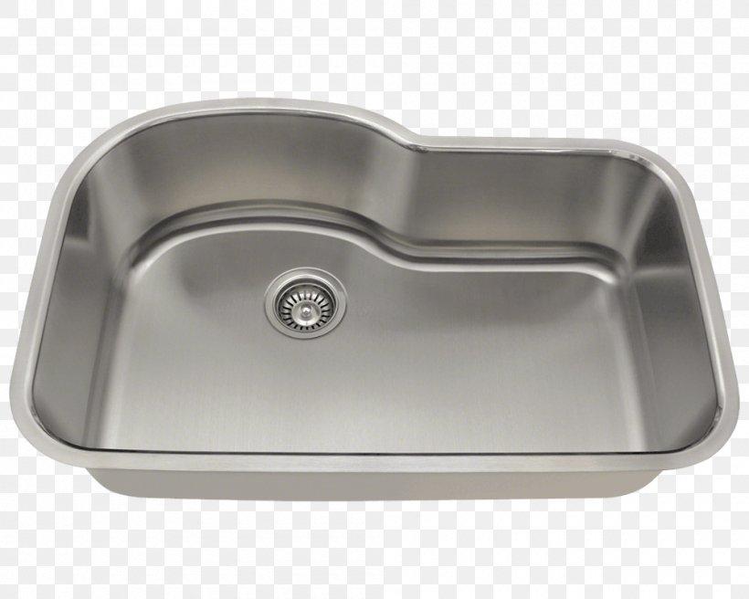 Kitchen Sink Stainless Steel Bowl, PNG, 1000x800px, Sink, Bathroom Sink, Bowl, Bowl Sink, Brushed Metal Download Free