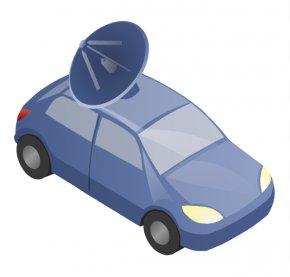 Satellite Truck Cliparts - Car Door Diagram Satellite Truck Clip Art PNG