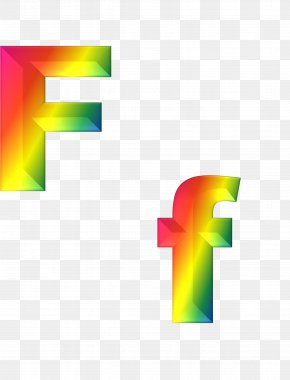 Abc - Letter English Alphabet Rainbow Font PNG