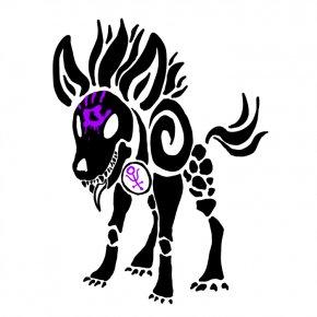 Seashell Tattoo Designs - Hyena Pony Tattoo Polynesia Clip Art PNG