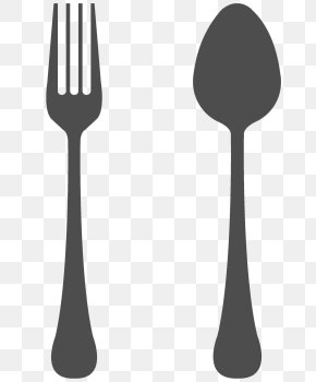Spoon And Fork Transparent Background - Spoon Fork Knife Cutlery PNG