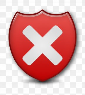 Close Security Shield - Vulnerability Button Icon PNG