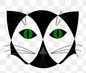 Pictures Of Black Cats With Green Eyes - Black Cat Clip Art PNG