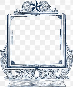 Book - Picture Frames Borders And Frames Clip Art PNG