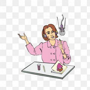 Cartoon TV Presenter - Cartoon Aurkezle Drawing Clip Art PNG