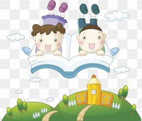 Child Reading - Child Kindergarten: Nursery School Cartoon PNG