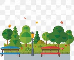Park Cartoon Illustration - Park Euclidean Vector PNG