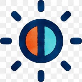 Symbol Logo - Blue Circle Line Font Electric Blue PNG