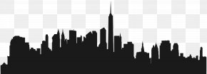 City Buildings Silhouette Clip Art - Cities: Skylines New York City Silhouette Wall Decal PNG
